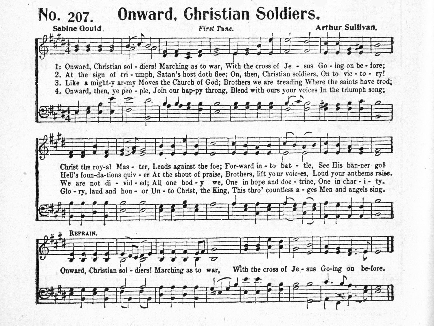 List Of Synonyms And Antonyms Of The Word Onward Christian Soldiers